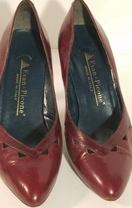 Evan Picone Maroon Leather Pumps 7M
